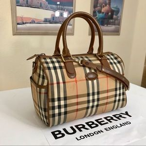 Burberry Vintage Nova Check Boston Handbag 👜